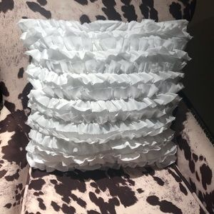 Other - White Ruffle Accent Pillow